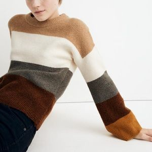 Madewell Andria Pullover sweater colorblock cute